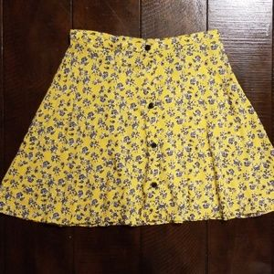 H&M button up skirt